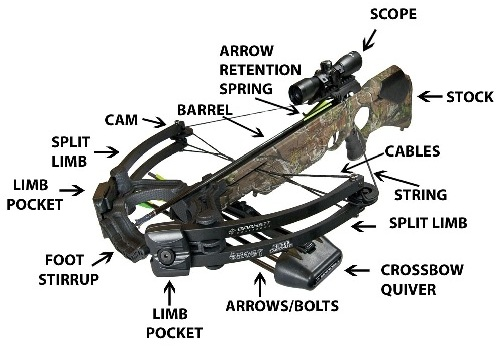 best crossbows: Different Parts of a Crossbow