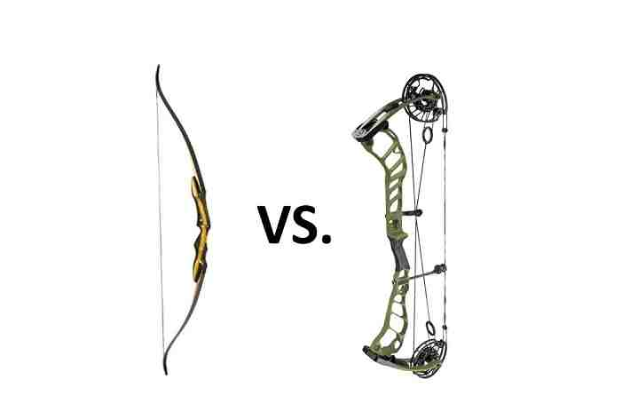 compound bow and longbow